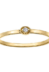 Yellow Gold (0.02ct) Diamond Stackable Ring