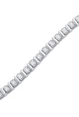 10K White Gold (0.50ct) Diamond Tennis Bracelet