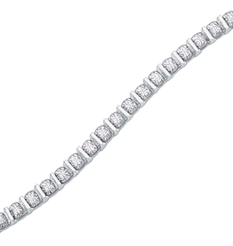 10K White Gold (0.50ct) Diamond Tennis Bracelet