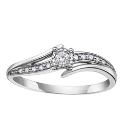 White Gold Diamond Promise Ring (0.10ct)