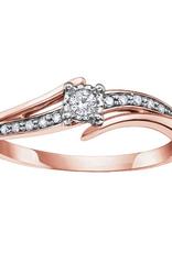 10K Rose Gold (0.10ct) Diamond Illusion Set Ring