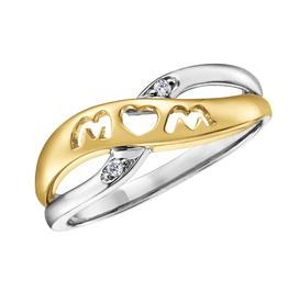 Diamond Mom Ring Two Tone