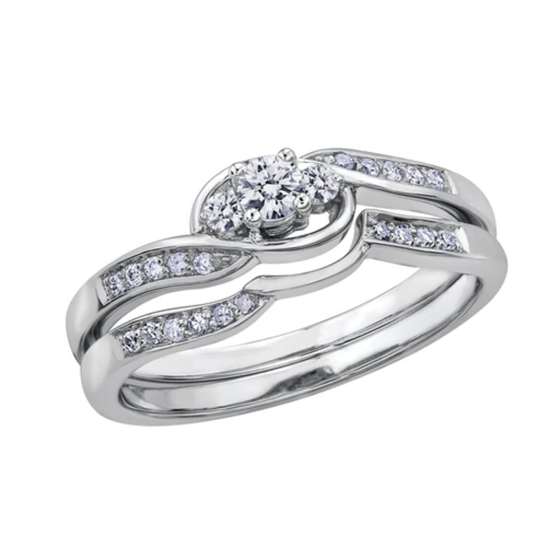 10K White Gold Diamond Matching Band