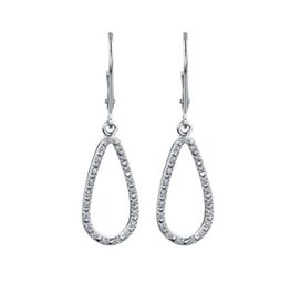Teardrops (0.15cttw) Dangling Earrings