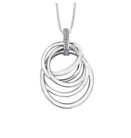 Fancy Circles Pendant with Diamonds