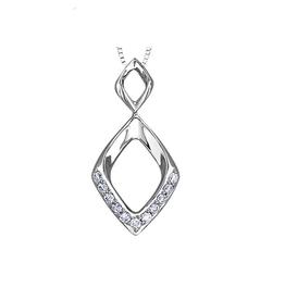 10K White Gold (0.11ct) Diamond Drop Pendant
