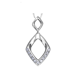 White Gold (0.11ct) Diamond Drop Pendant