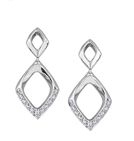 White Gold (0.13ct) Diamond Drop Earrings