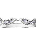 10K White Gold (0.10ct) Diamond Matching Wedding Band