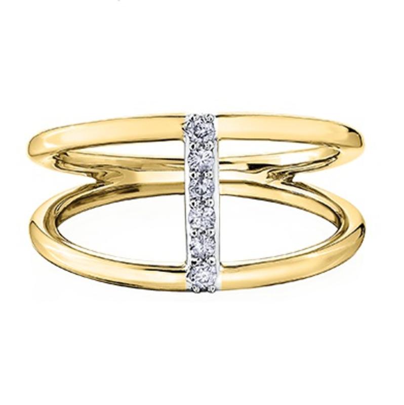 Yellow Gold Diamond Neo Mode Ring