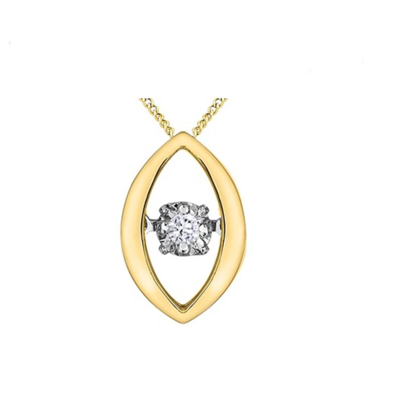 10K Yellow Gold (0.02ct) Dancing Diamond Pendant