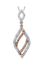 Diamond and Natural Brown Diamond Pendant