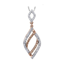 Diamond and Natural Brown Diamond Pendant