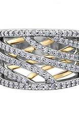 White and Yellow Gold Fancy  Diamond Ring
