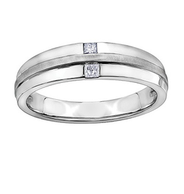 White Gold Mens Diamond Band (0.15ct)