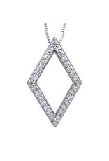 10K White Gold (0.16ct) Diamond Contemporary Pendant