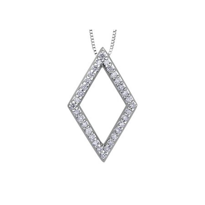 Geometric Shape Diamond Pendant