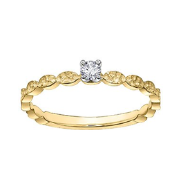 Yellow Gold Diamond Promise Ring (0.08ct)