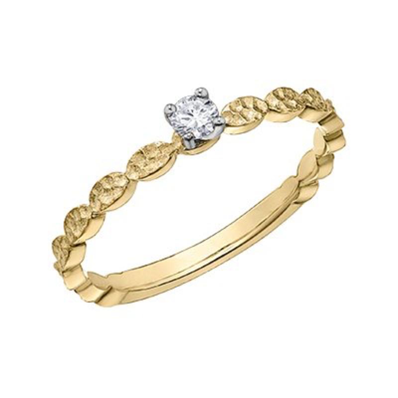 10K Yellow Gold (0.08ct) Diamond Promise Ring