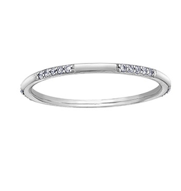 10K White Gold Diamond Stackable Band