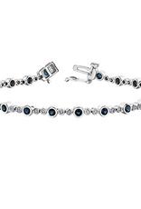 White Gold Sapphire and Diamond Tennis Bracelet