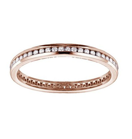 Rose Gold Channel Set (0.25ct) Diamond Eternity Band