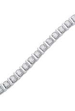 White Gold (1.00ct) Diamond Tension Set Tennis Bracelet