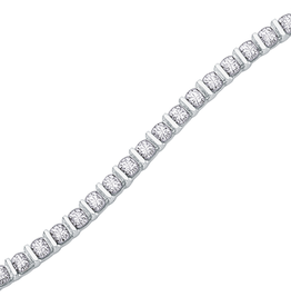 White Gold (1.00ct) Diamond Tennis Bracelet