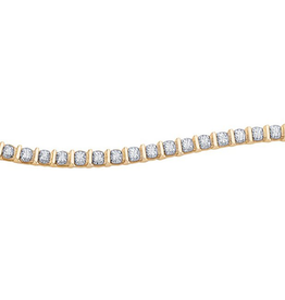 Yellow Gold (1.00ct)  Diamond Tension Set Tennis Bracelet