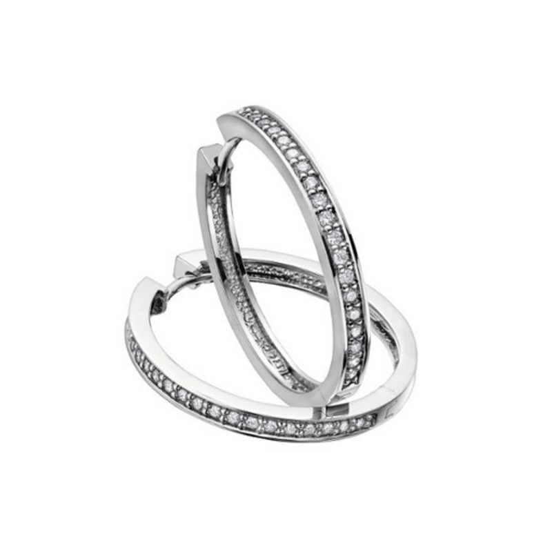Diamond Hoops (0.10ct) White Gold