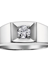 I am Canadian 10K White Gold (0.30ct) Canadian Diamond Men's Ring
