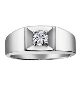 I am Canadian 10K White Gold (0.30ct) Canadian Diamond Mens Ring