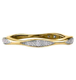 10K Yellow Gold Stackable Diamond Band (0.10ct)