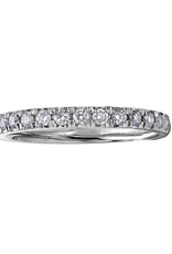 10K White Gold (0.10ct) Pavee Set Diamond Band