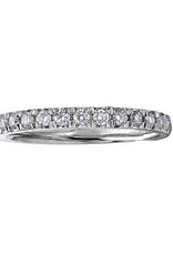 10K White Gold (0.10ct) Pavee Set Diamond Stackable Wedding Band