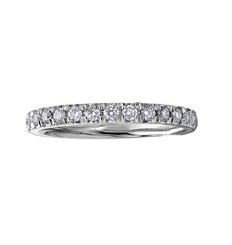 10K White Gold (0.15ct) Pavee Diamond Anniversary Band