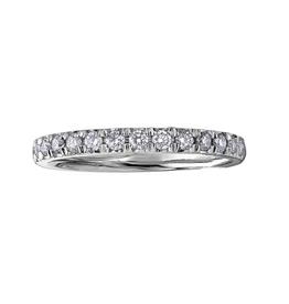 14K White Gold (0.33ct) Pavee Set Diamond Stackable Wedding Band