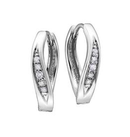 Diamond Huggie Earrings (0.06ct) White Gold