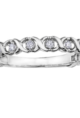White Gold (0.09ct) Diamond Stackable Band