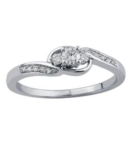 10K White Gold (0.20ct) Three Stone Diamond Ring