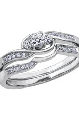 10K White Gold (0.20ct) Diamond Three Stone Promise Ring