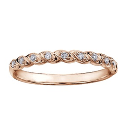 Rose Gold (0.08ct) Diamond Stackable Ring