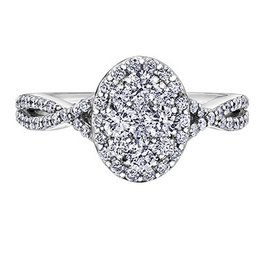 Estoria Cluster Diamond (1.00ct) White Gold Ring