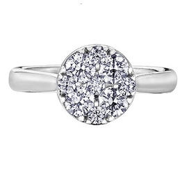 Estoria 14K White Gold Diamond Cluster Ring (1.00ct)