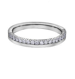 10K White Gold (0.15ct) Diamond Stackable Wedding Band