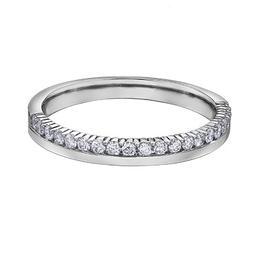 14K White Gold (0.25ct) Diamond Stackable Wedding Band