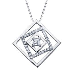 Maple Leaf Diamonds Canadian Diamond Geometric Pendant