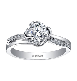 Maple Leaf Diamonds 18K Palladium White Gold Maple Leaf (0.65ct) Canadian Diamond Engagement Ring
