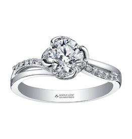 Maple Leaf Diamonds 18K Palladium White Gold Maple Leaf (0.85ct) Canadian Diamond Engagement Ring