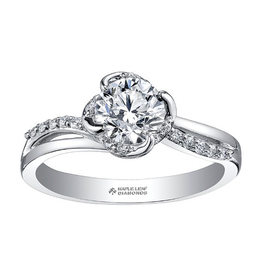 Maple Leaf Diamonds Maple Leaf Canadian Diamond (0.85ct) White Gold Engagement Ring